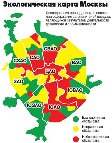 Лучший район по экологии в москве